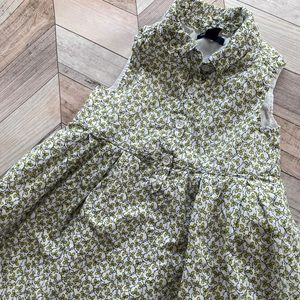 GAP Floral Collared Dress Green Size 4T